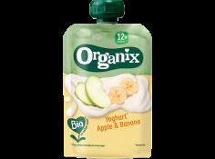 Yoghurt, apple and banana